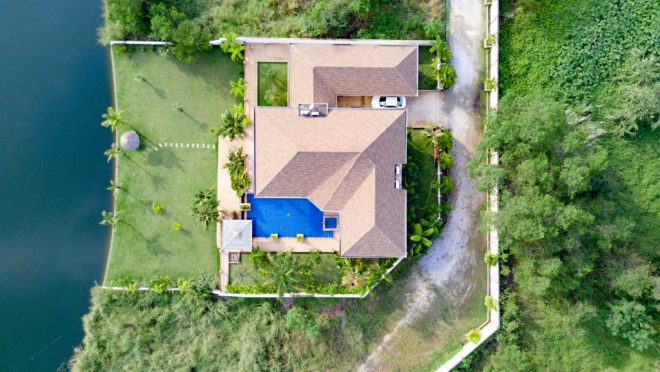 Top,View,Beautiful,Garden,Villa,Resort,,Above,The,Holiday,Villa